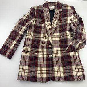 Worthington Vintage Plaid Blazer